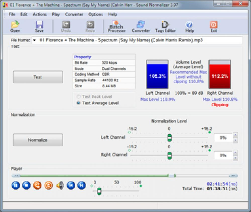 Sound Normalizer 6.95 (Shareware 8.98Mb)