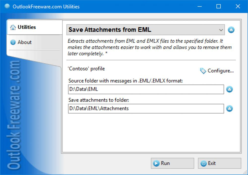 Save Attachments from EML for Outlook 4.14 (Freeware 0.31Mb)
