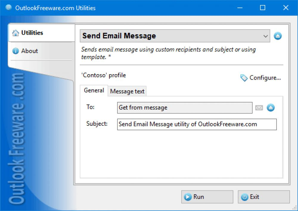 Send Email Message for Outlook 4.16 (Freeware 0.30Mb)