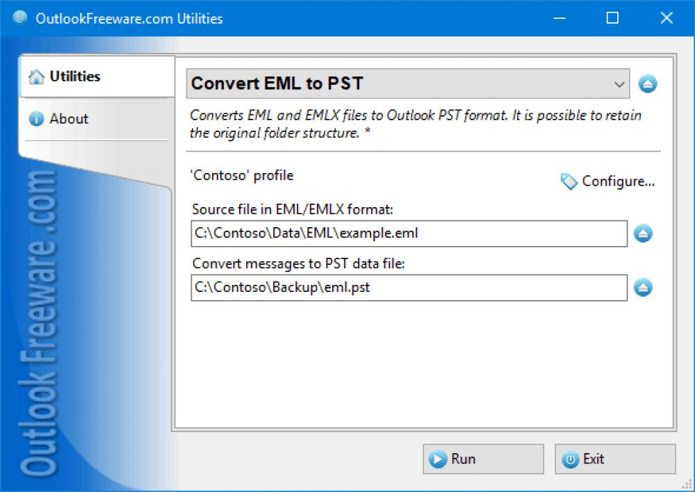 Convert EML to PST for Outlook 4.14 (Freeware 0.31Mb)