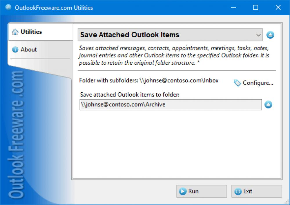 Save Attached Outlook Items 4.15 (Freeware 0.30Mb)