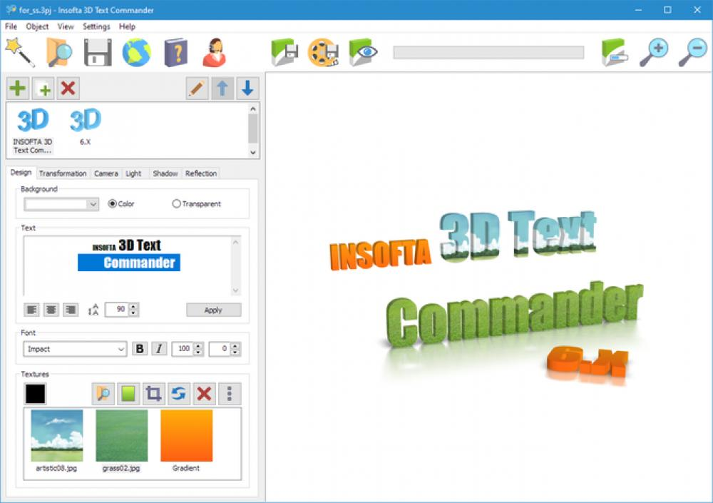 Insofta 3D Text Commander 6.0.0 (Demo 19.96Mb)