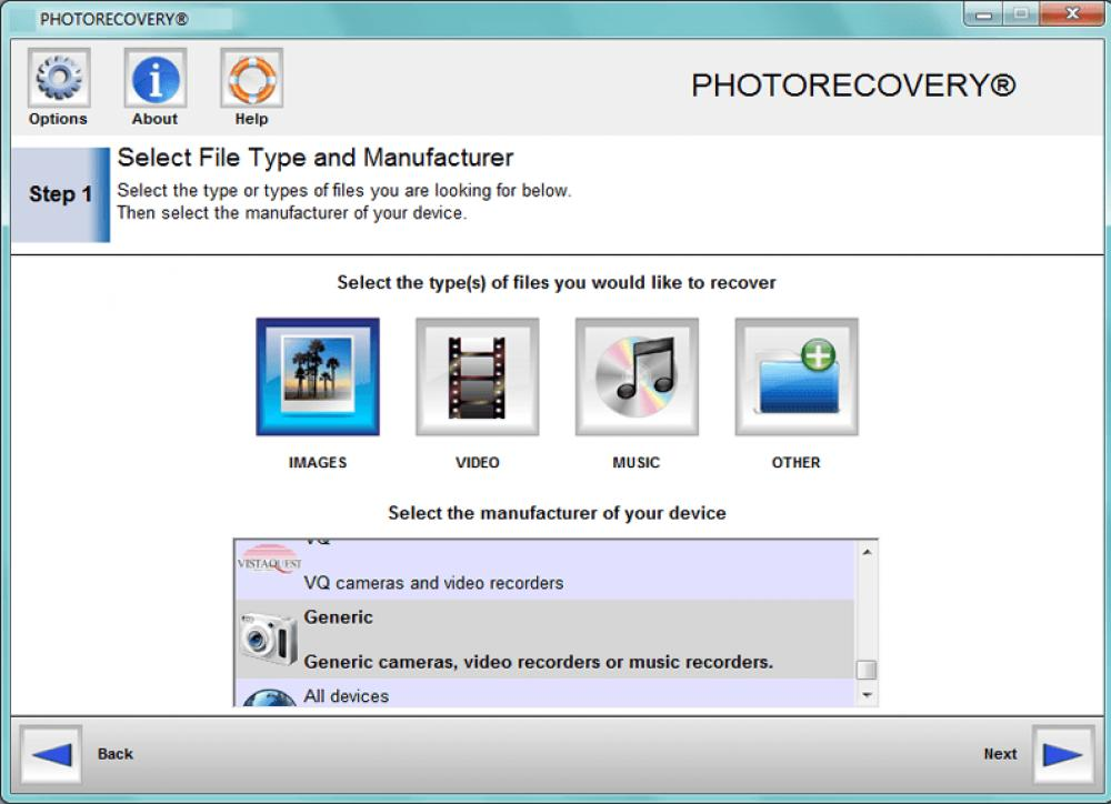 PHOTORECOVERY Standard 2019 for Windows 5.1.9.7 (Demo 7.01Mb)
