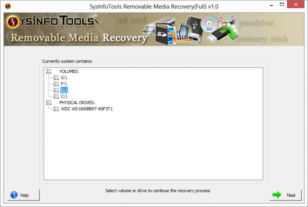 Removable Media Data Recovery 1 (Shareware 1.60Mb)