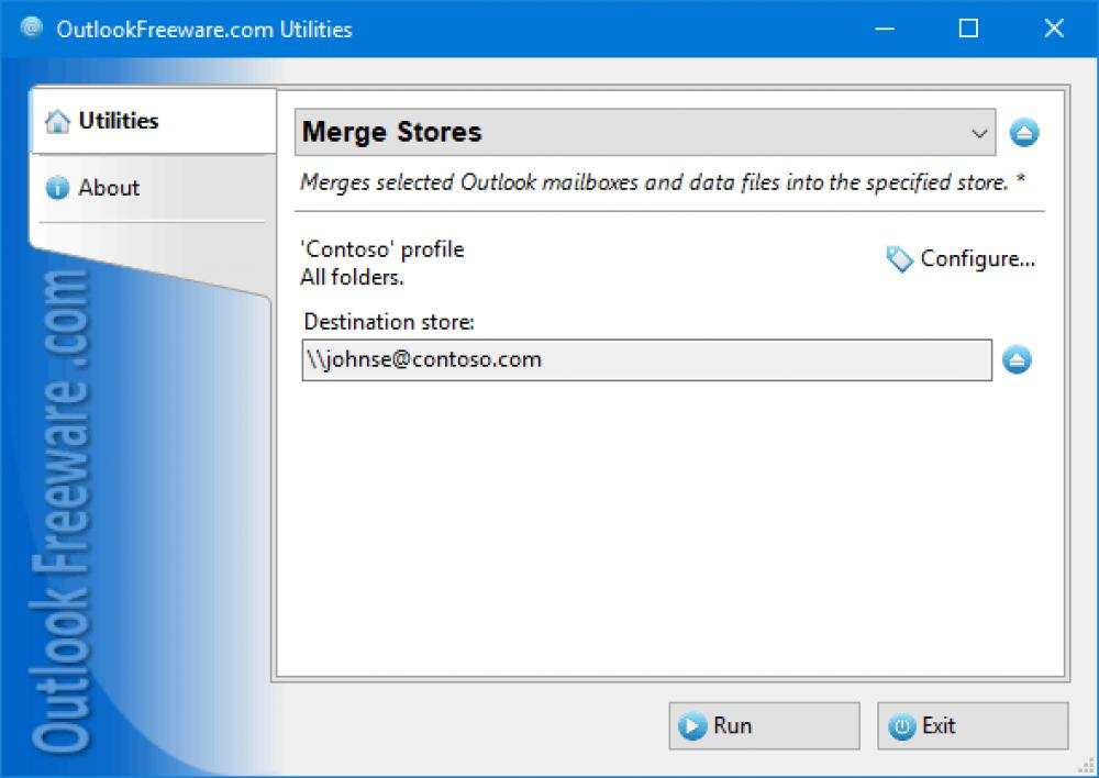 Merge Stores for Outlook 4.14 (Freeware 0.30Mb)