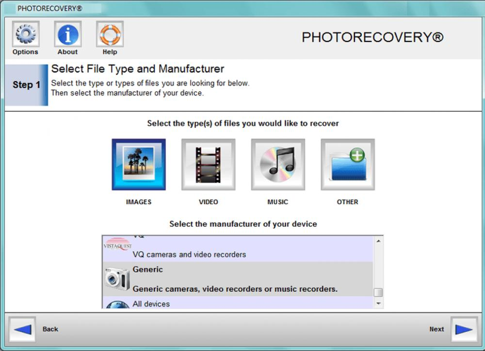 PHOTORECOVERY Professional 2019 for Mac 5.1.9.7 (Demo 34.90Mb)