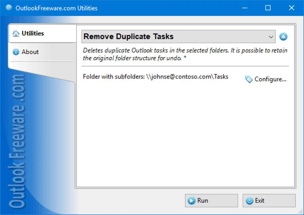 Remove Duplicate Tasks for Outlook 4.15 (Freeware 0.32Mb)
