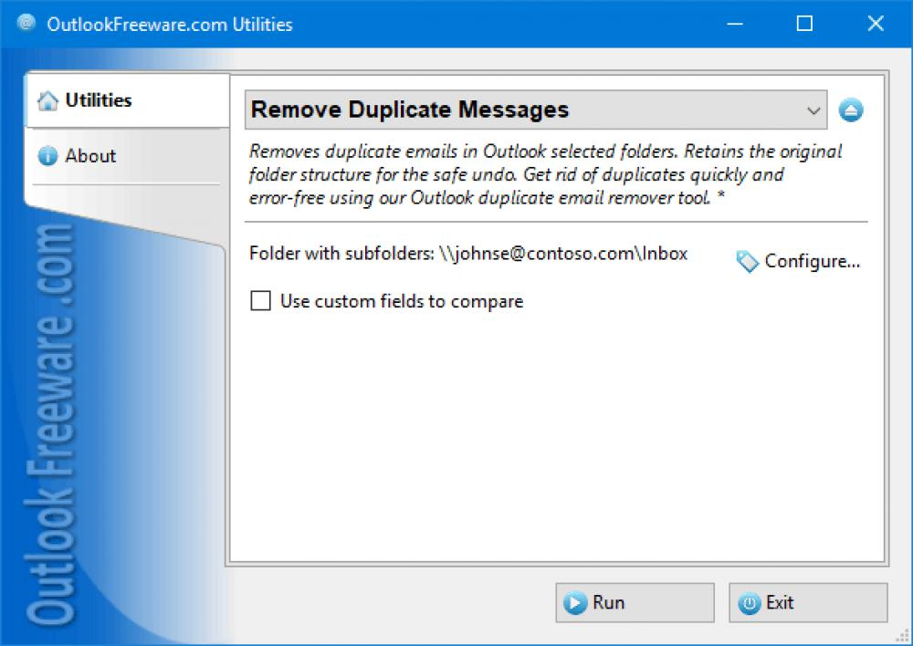Remove Duplicate Messages for Outlook 4.15 (Freeware 0.32Mb)