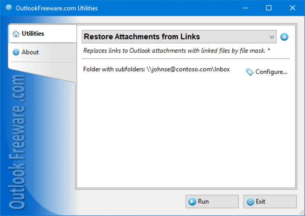 Restore Attachments from Links 4.15 (Freeware 0.30Mb)