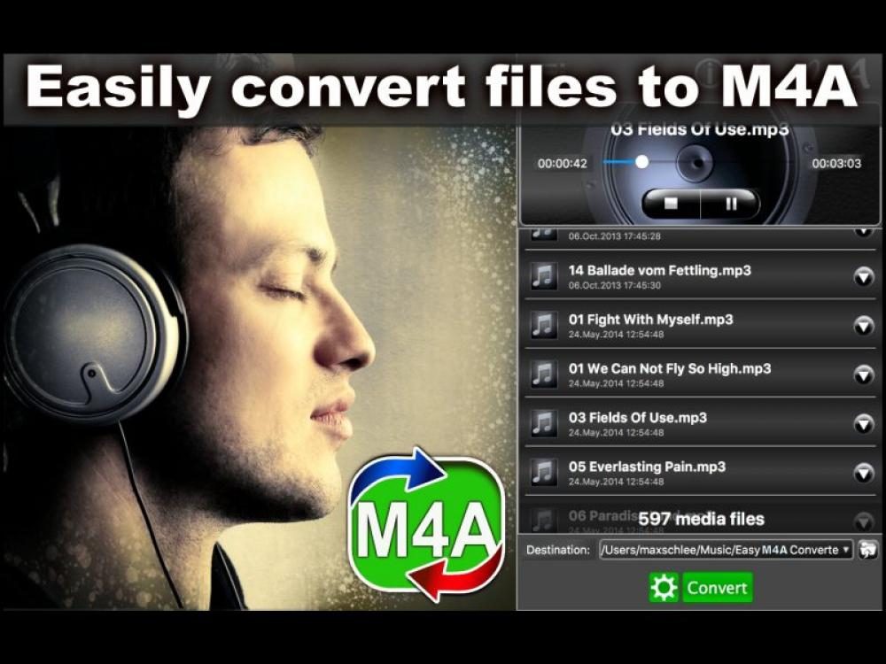 Easy M4A Converter 1.0.2 (Shareware 15.72Mb)