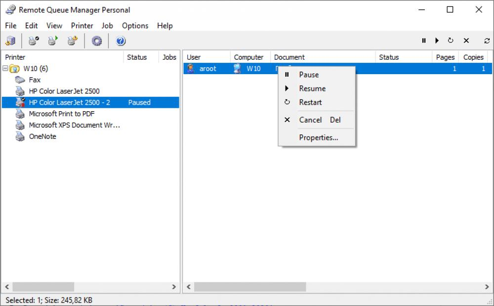 Remote Queue Manager Personal 6.0 (Freeware 1.50Mb)