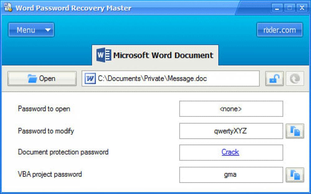 Word Password Recovery Master 4.0 (Shareware 2.16Mb)